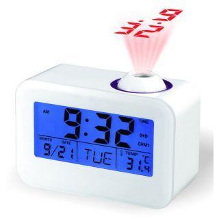 Model-806 Sound Projection Talking Alarm Digital LED Projector Clock
