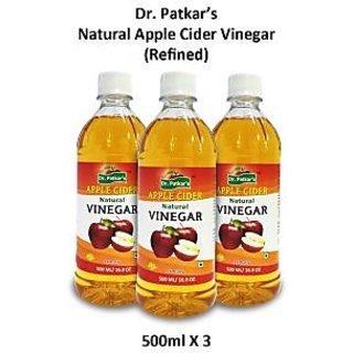 Dr. PatkarS Natural Apple Cider Vinegar Refined (Single Bottle)