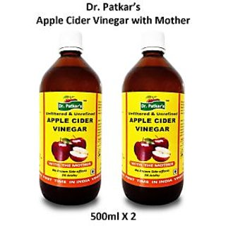 Dr.PatkarS Apple Cider Vinegar With Mother (500 Ml X 2) Pack Of 2