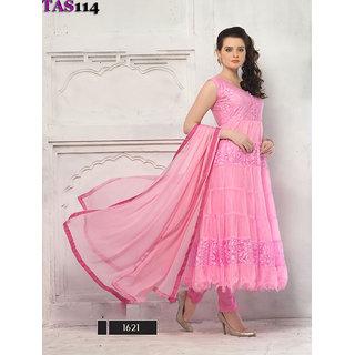 Thankar Fashionable Pink Designer Anarkali Suits