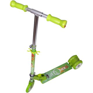 COSMIC ZOOMER LED 3 WHEEL KIDS KICK SCOOTER GREEN