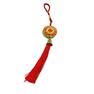 Shree Yantra And Vahan Durghatan Yantra Hanging For Good Luck And Protection