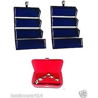 Atorakushon 2 Earring  1 Ring Jewellery Jewelry Box Vanity Case Makeup Kit Bag Organizer