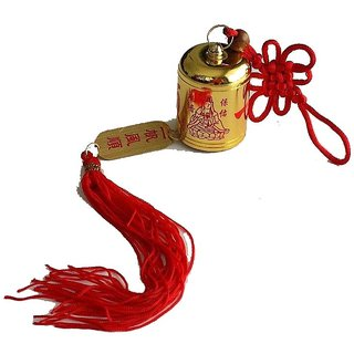 KUAN YIN Golden COLOR METAL MYSTIQUE KNOT BELL FOR PROTECTION AND PROSPERITY