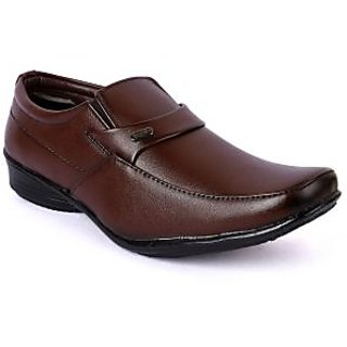 Action-Dotcom MenS Brown Formal Slip On Shoes