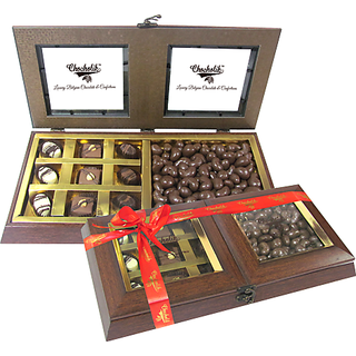 Classy Combination of Milk Cashew and Chocolates  - Chocholik Belgium Gifts
