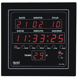Ajanta LED Digital Wall Clock - OLC 302