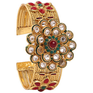 Beautiful Ethnic Kadas Adorned With Cz Stones(D3089)