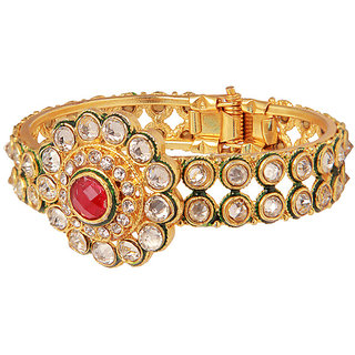 Flaunting Ethnic Diamond studded Bracelet(D3031)