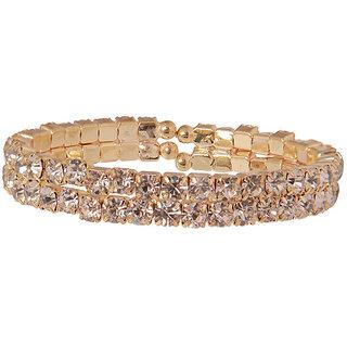 Charming 2 layered Golden AD Bracelet(D3039)