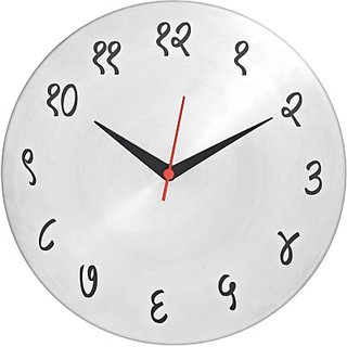 Catwhiskers Analog 25 cm Dia Wall Clock(Steel, Without Glass)
