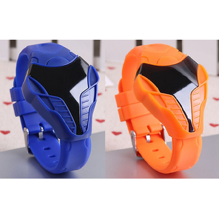 Iron Man LED Watch Combo for boys/girls BLUE and ORANGE by Crazy Online