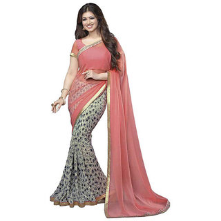 Sudev Pitch Art silk Printed Party Wear Saree