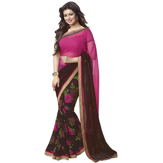 Sudev MUlticolour Art silk Printed Party Wear Saree