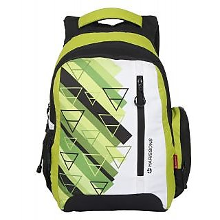Harissons Eon Lime Green Polyester Backpack