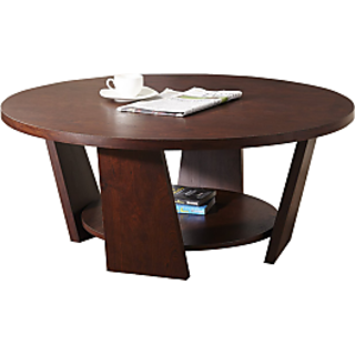 Round Coffee Table with Extra Slab