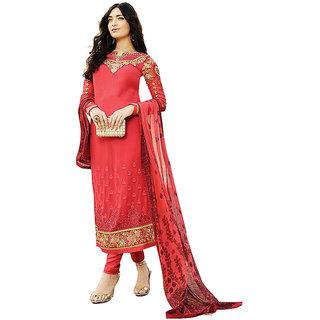 Mizaan- red dress materials
