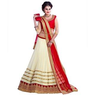 b69e53d29 Buy Ethnic And Style Designer Sarees Beige Net Lehenga Online ...