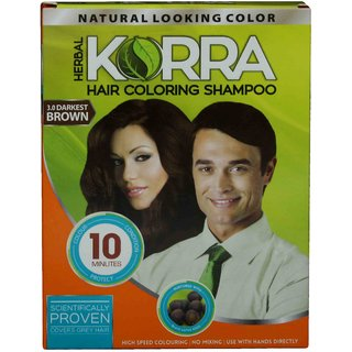 Korra Coloring Shampoo Hair Color Black Pack of 20 30 ML Each: Buy ...