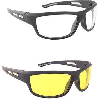 Blue Tuff Night Day Driving Goggles (Set Of 2) Multicolour