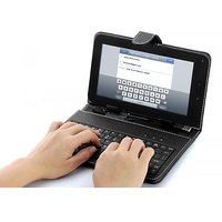 USB Keyboard Keypad Case Cover For 7 Inch Black By Angle Traders