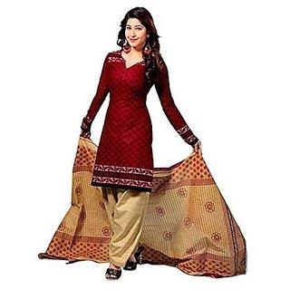 Pooja Designs Womens Cotton Unstitched Salwar Suit Dress Material