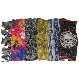 Bandana Pack Of 6 Multicolours