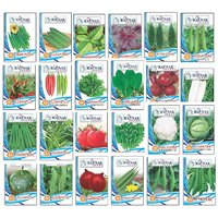 Seeds-24 Variety Hybrid Vegetable Kit For Kitchen Terrace Poly House Gardening