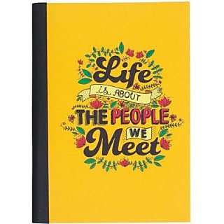 NEWEUROSHOP   Handcrafted Gift Set Regular Notebook Soft Bound(Multicolor)