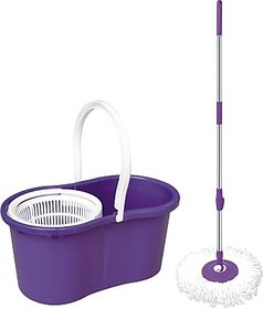 BLUECLEANSOLUTONS Magic Mop Set(Built in Wringer Purple)