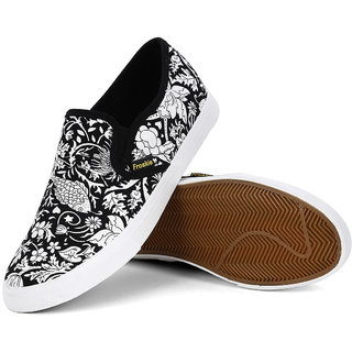 froskie black colour canvas party wear shoe