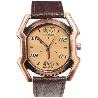 Men Ad Brown Belt designer Dial Analog New Watches