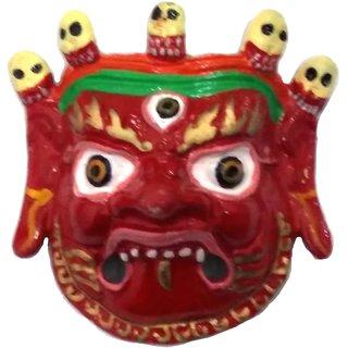 Mahakaal Mask Evil Eye Protector Metal Wall Hanging ( 4 INCH), Najarbatoo