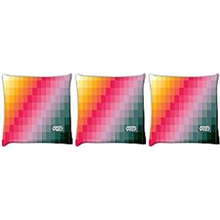 Snoogg abstract art work Pack of 3 Digitally Printed Cushion Cover Pillows 12 x 12 Inch