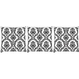 Snoogg abstract unquie pattern Pack of 3 Digitally Printed Cushion Cover Pillows 12 x 12 Inch