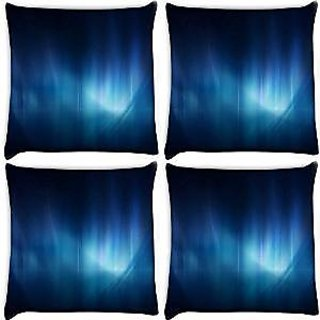 Snoogg Abstract Blue Pattern Design Pack Of 4 Digitally Printed Cushion Cover Pillows 12 X 12 Inch
