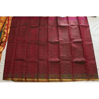Flower Design Silk Saree
