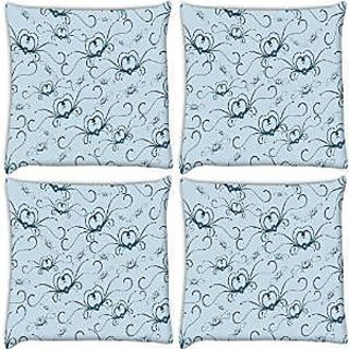 Snoogg Abstract Pattern Pack Of 4 Digitally Printed Cushion Cover Pillows 16 X 16 Inch