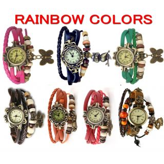 Oval Dial Multicolor Metal Strap Womens Quartz Watch