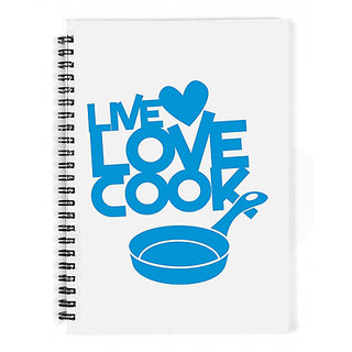 The Fappy Store Live Love Cook With Saucepan Notebook