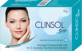 clinsol soaps for spots acne(set of 5 pcs.)