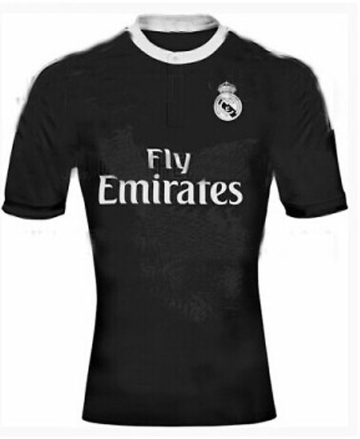 new concept 25a98 05140 Real Madrid Black half Sleeves Jersey