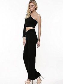 @rk New Fashion Women Casual Summer Black color Palazzo Pants ,Plazzo Trousers with Nicker