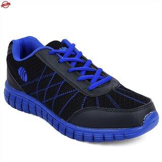 Action Shoes MenS Black,Blue Lace-Up Sport Shoes
