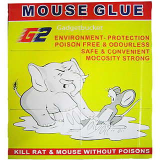 MOUSE GLUE PAD KILL RAT & MOUSE WITHOUT POISONS ENVIRONMENT FRIEND