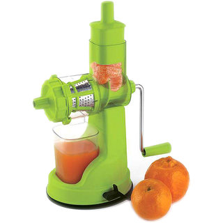 Floraware Fruit And Vegetable Green Colour Juicer With Steel Handel