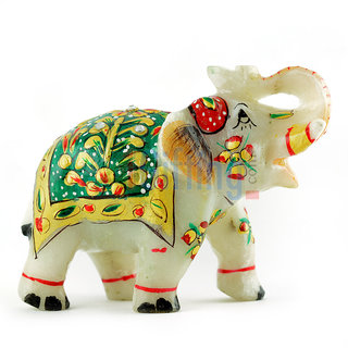 Amazing Marble Elephant Handicraft