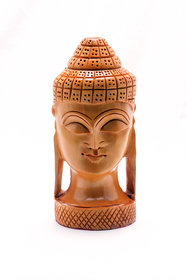 Handcrafted Lord Buddha Wooden Statue