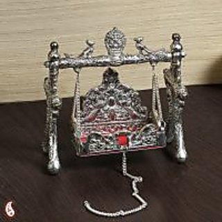 White Metal Ornate Shree Laxmi Jhula