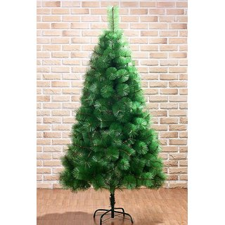 UNIQUE - 6 FEET ARTIFICIAL PINE CHRISTMAS TREE- METAL STAND + DECORATIVE ITEMS